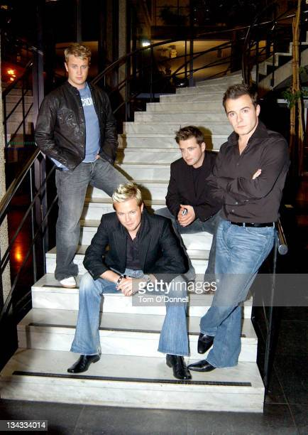 Westlife during Westlife's Marti Pellow and Sarah Ferguson On Late Late Show in Dublin at RTE Studios in Dublin Ireland