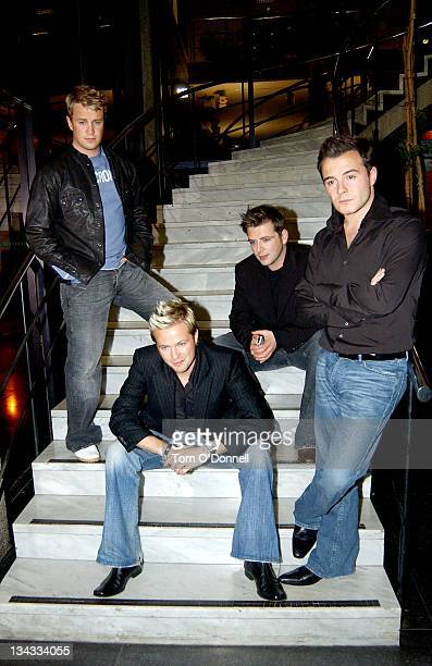Westlife during Westlife's Marti Pellow and Sarah Ferguson On Late Late Show in Dublin at RTE Studios in Dublin, Ireland.