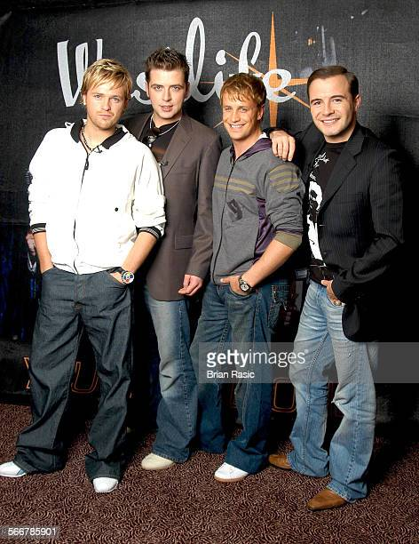 Westlife Hold Auditions To Record A Song With Them Mariott Hotel London Britain 24 Aug 2004 Westlife Nicky Byrne Mark Feehily Kian Egan And Shane...