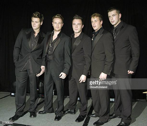 Westlife launch their new album Turnaround to selected guests of friends and family at the Four Seasons Hotel Dublin Ireland November 20 2003