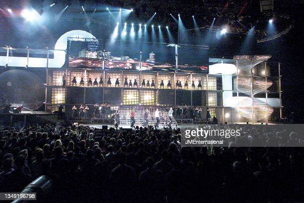 Westlife perform Uptown Girl during The 21st BRIT Awards with Mastercard, Earls Court 2, London, UK, Monday 26 February 2001.