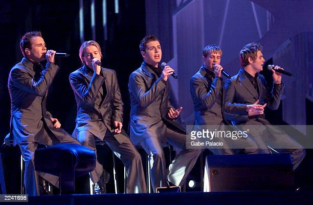 Westlife performing on stage at The Nobel Peace Prize Concert 2000 in Oslo Spektrum in Oslo, Norway at 7:00 pm on Monday 11 December. The event airs...