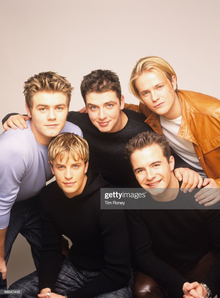 Westlife (Brian McFadden, Nicky Byrne, Kian Egan, Mark Feehily and Shane Filan), pop group, circa 2000.