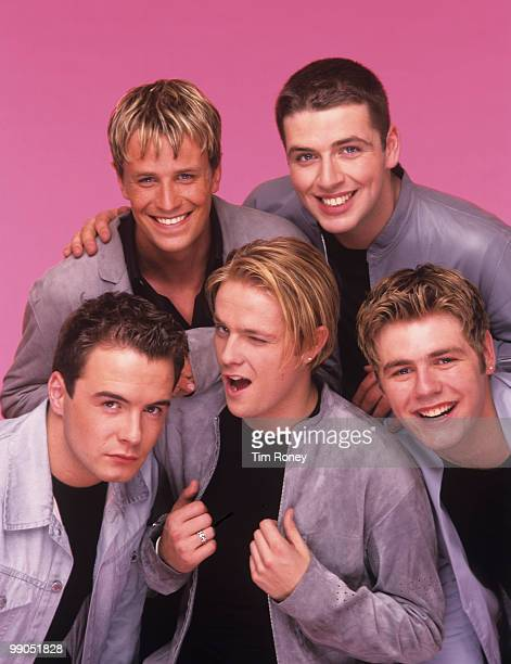 Westlife , pop group, circa 2000.