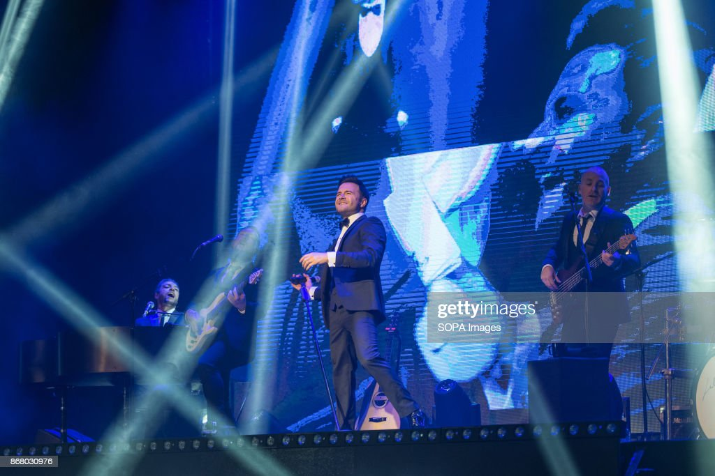 Westlife singer Shane Filan performs on stage on his 'Love Always