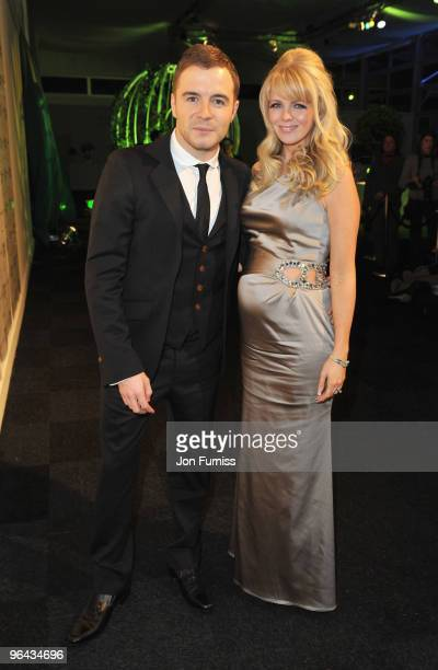 Westlife's Shane Filan and wife Gillian attend Ronan Keating's fourth annual Emeralds and Ivy Ball in aid of Cancer Research UK at Battersea...