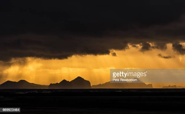 Westman Islands framed in a storm