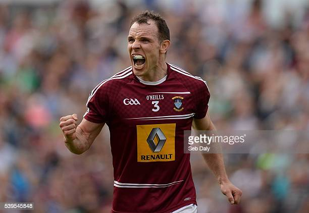 Westmeath Ireland 12 June 2016 Francis Boyle of Westmeath celebrates his side's victory after the Leinster GAA Football Senior Championship...