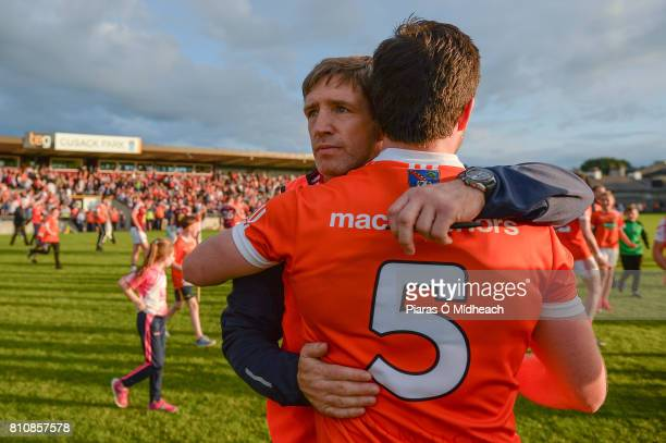 Westmeath Ireland 8 July 2017 Armagh manager Kieran McGeeney with Aidan Forker after the GAA Football AllIreland Senior Championship Round 2B match...