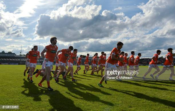 Westmeath Ireland 8 July 2017 Armagh players break away after the prematch team photograph before the GAA Football AllIreland Senior Championship...