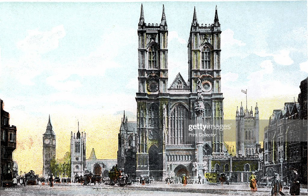 Westminster Abbey and Big Ben, London, 20th Century. : News Photo