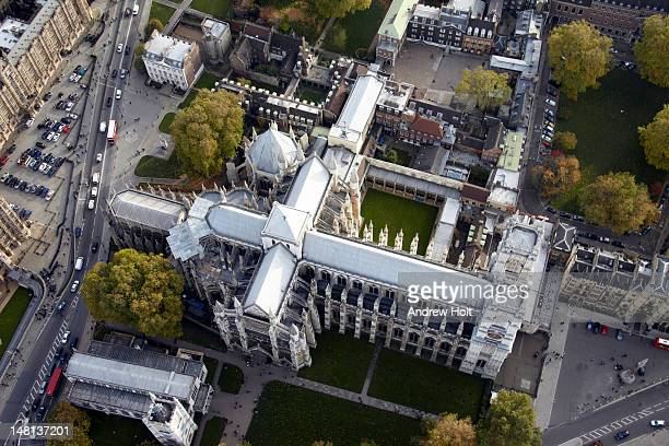 Westminster Abbey and school, London SW1, aerial