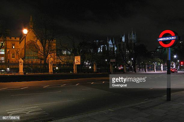 Westminster Abbey by night - London