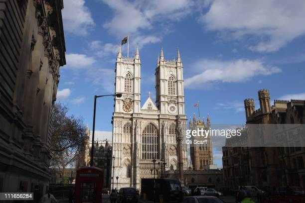 Westminster Abbey is illuminated in afternoon sunlight on April 4 2011 in London England The royal wedding between Prince William and Kate Middleton...