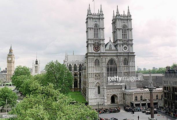 Westminster Abbey London During The Service Of Thanksgiving For The Life And Work Of Ted Hughes Poet Laureate