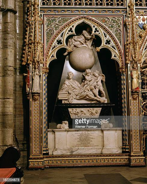 Westminster Abbey Monument to Sir Isaac Newton Designed by William Kent carved by Michael Rysbrack England 18th century London