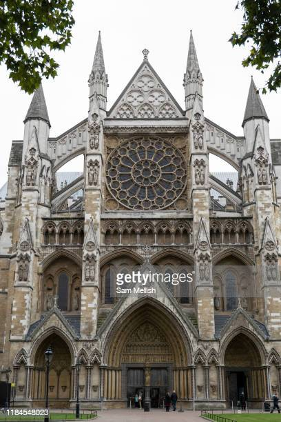 Westminster Abbey on the 3rd October 2019 in London in the United Kingdom. Westminster Abbey, formally titled the Collegiate Church of Saint Peter at...