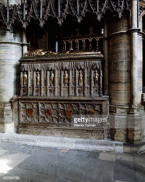 Westminster Abbey Tomb of Edward III South side seen from the ambulatory Among the six effigies of children along the side is one of the Black Prince...