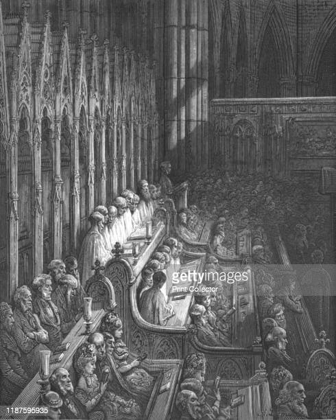 Westminster AbbeyThe Choir' 1872 The choir stalls in Westminster Abbey were designed by Edward Blore and date from 1847 From LONDON A Pilgrimage by...