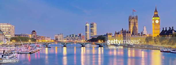 Westminster Bridge panorama in London