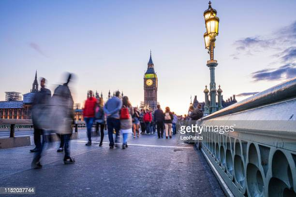 westminster bridge - the big ben and house of parliament in london - uk - houses of parliament london stock pictures, royalty-free photos & images