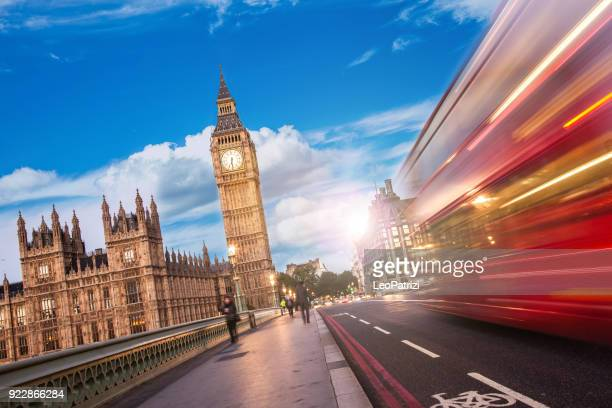 westminster bridge - the big ben and house of parliament in london - uk - houses of parliament london stock photos and pictures