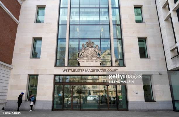 Westminster Magistrates Court is pictured in London on April 11 after British police arrested WikiLeaks founder Julian Assange earlier today...