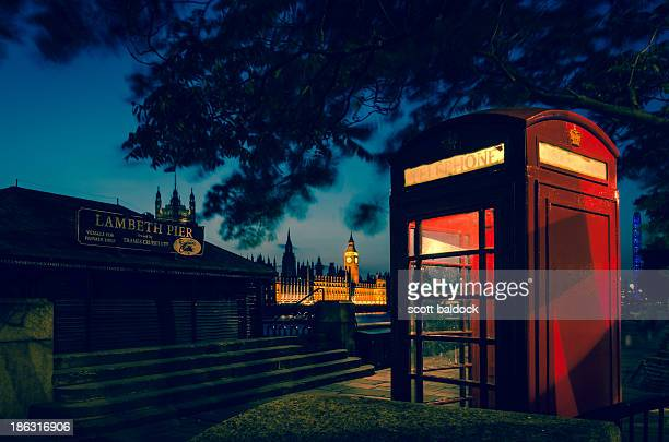 CONTENT] Westminster palace big ben river thames lambeth red phone box London England night photography city architecture