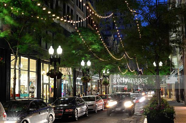 Westminster Street of Providence at Night
