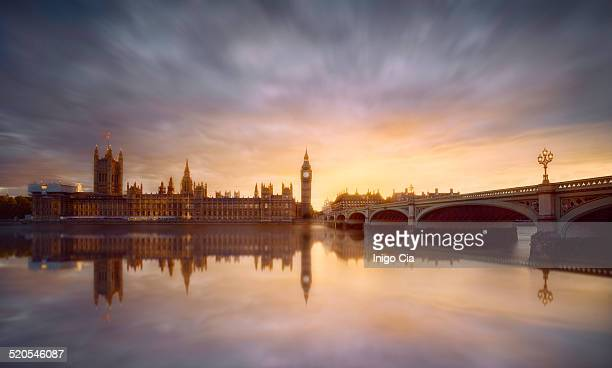 westminster sunset - houses of parliament london stock photos and pictures
