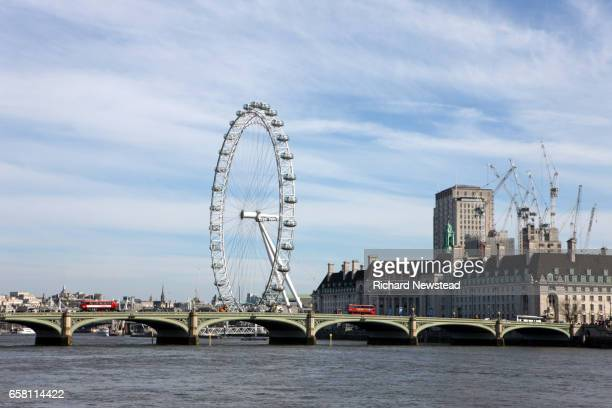 westminster view - london eye stock photos and pictures