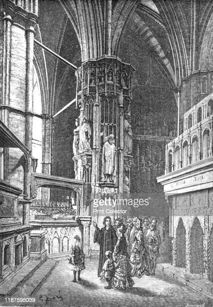 WestminsterThe Round of the Abbey' 1872 Tour of Westminster Abbey in front of the shrine of Edward the Confessor From LONDON A Pilgrimage by Gustave...