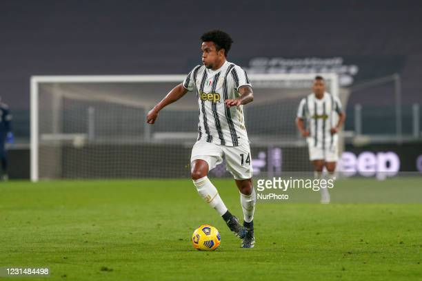 Weston McKennie of Juventus FC during the Serie A football match between Juventus FC and Spezia Calcio at Allianz Stadium on March 02, 2021 in Turin,...