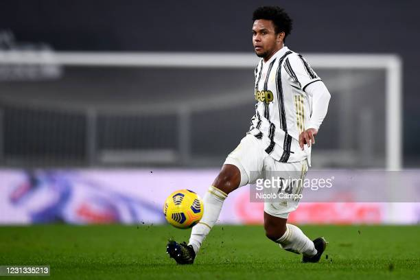 Weston McKennie of Juventus FC in action during the Serie A football match between Juventus FC and FC Crotone. Juventus FC won 3-0 over FC Crotone.