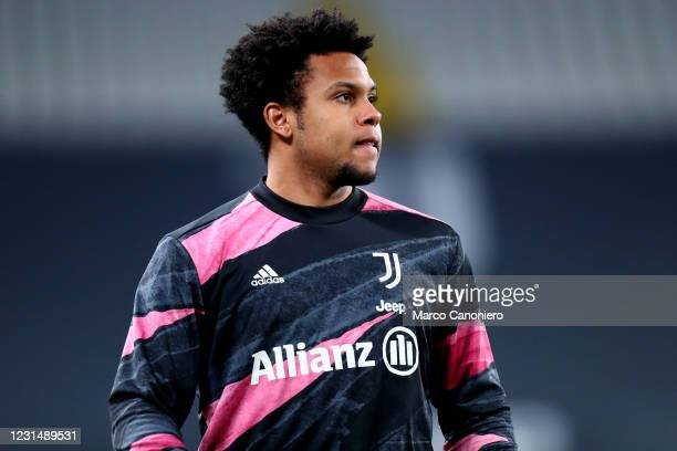 Weston McKennie of Juventus Fc looks on before the Serie A match between Juventus Fc and Spezia Calcio. Juventus Fc wins 3-0 over Spezia Calcio.