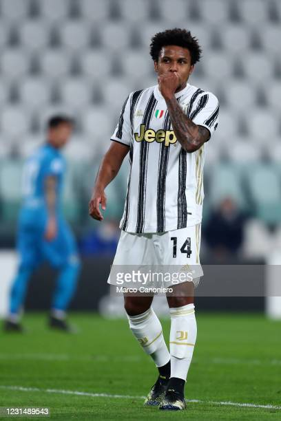 Weston McKennie of Juventus Fc looks on during the Serie A match between Juventus Fc and Spezia Calcio. Juventus Fc wins 3-0 over Spezia Calcio.