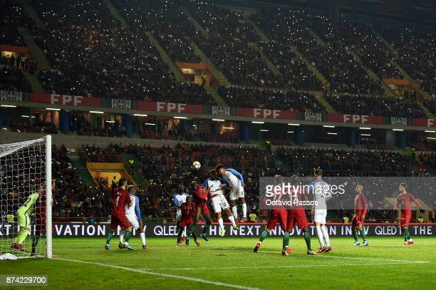 Weston McKennie of USA in action during the International Friendly match between Portugal and USA at Estadio Municipal Leiria on November 14 2017 in...