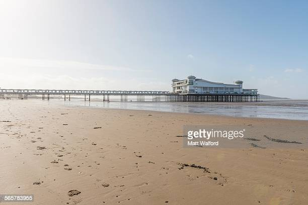 weston super mare pier, uk - weston super mare stock pictures, royalty-free photos & images