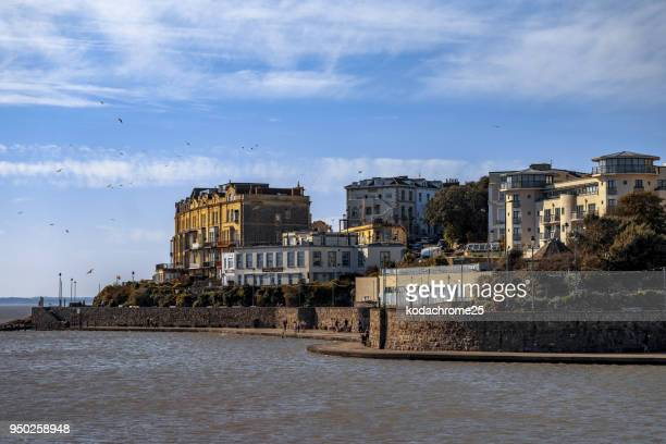 weston super mare seaside resort somerset england - weston super mare stock pictures, royalty-free photos & images