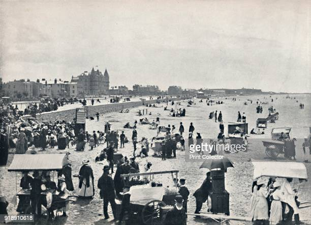 'WestonSuperMare A Summer Scene on the Sands' 1895 From Round the Coast [George Newnes Limited London 1895]Artist Unknown