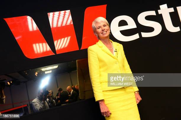 Westpac Chief Executive Gail Kelly arrives at a press briefing in Sydney on November 4 after the Australian banking giant posted a 14 percent jump in...