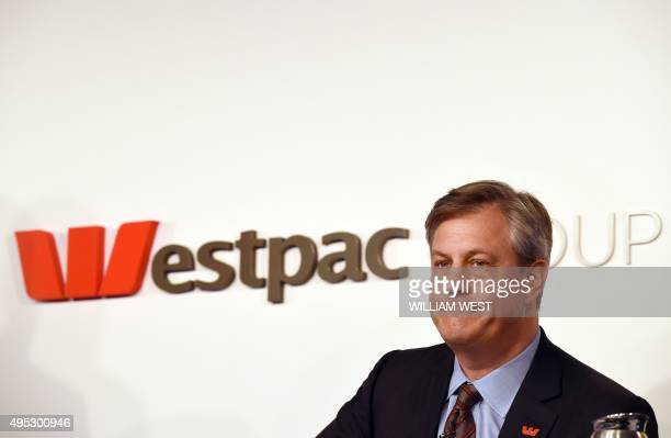Westpac chief executive officer Brian Hartzer listens to a question during a media briefing as the Australian banking giant recorded a full year cash...