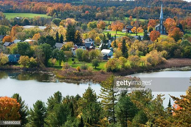 westport in the autumn season - ontario canada stockfoto's en -beelden
