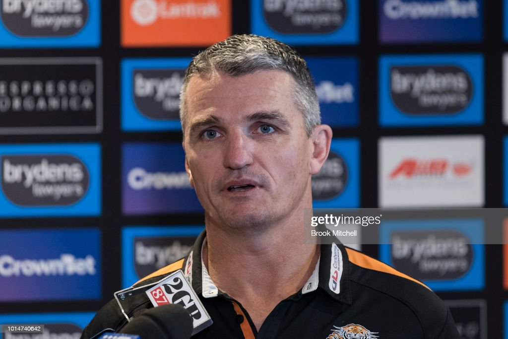 Wests Tigers NRL coach Ivan Cleary speaks to the media during a press conference at Wests Leagues Club on August 11, 2018 in Campbelltown, Australia.