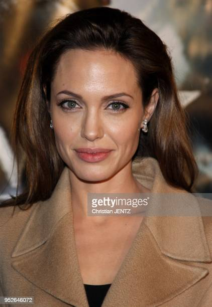 Westwood Angelina Jolie attends the Los Angeles Premiere of 'Beowulf' held at the Mann Village Theater in Westwood California United States Christian...