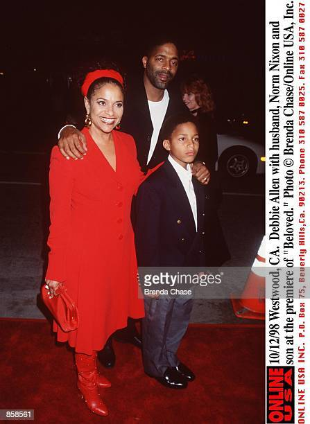 Westwood CA Debbie Allen with husband Norm Nixon and son at the premiere of Beloved