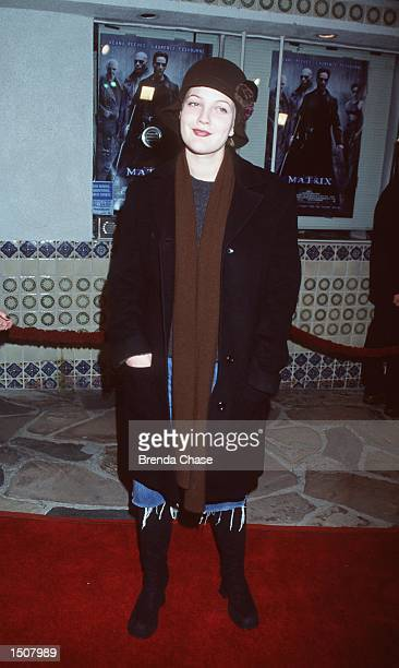 03/24/99 Westwood CA Drew Barrymore arrives at the world premiere showing of the new film The Matrix at the Mann's Village Theatre Photo Brenda...