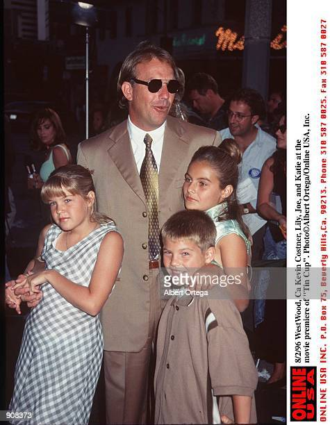 WestWood Ca Kevin Costner Lily Joe Katie at the movie premiere of Tin Cup