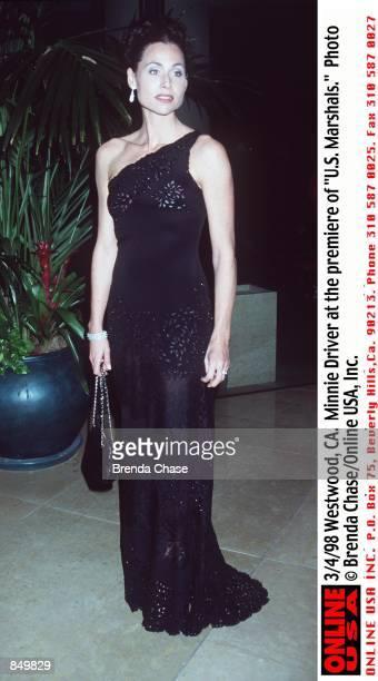 "Westwood, CA. Minnie Driver at the premiere of ""U.S. Marshals."""