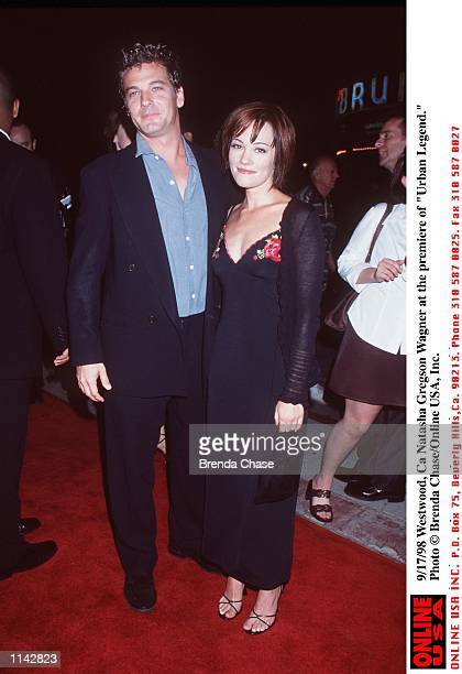 Westwood Ca Natasha Gregson Wagner and date at the premiere of Urban Legend